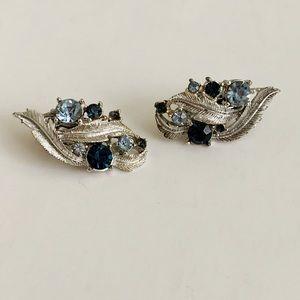 Fashionable Blues Clip On Earrings (A-12)